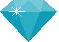 Find Your Bling Teal Diamond
